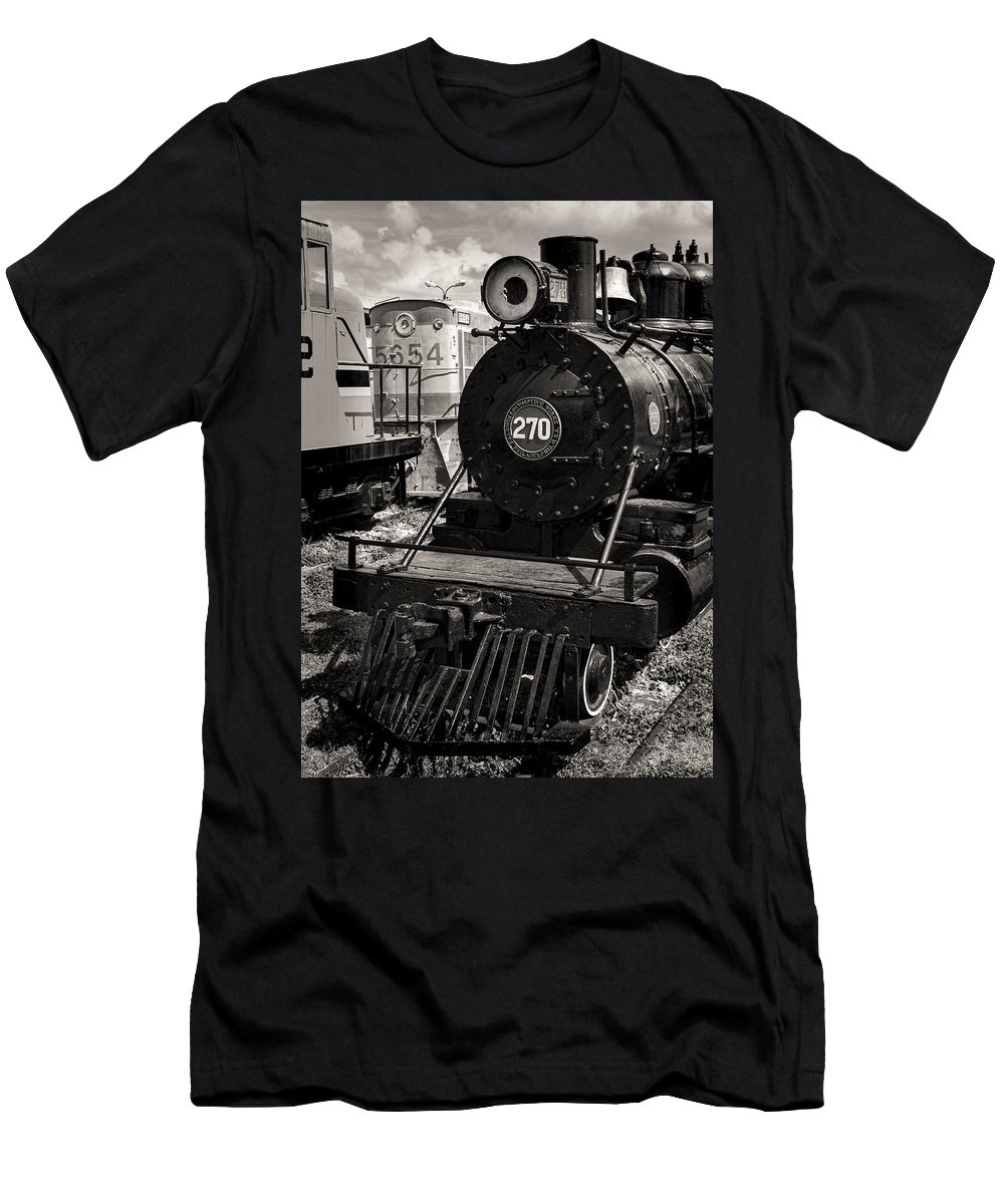 Merida Men's T-Shirt (Athletic Fit) featuring the photograph Old Steam Lock by For Ninety One Days