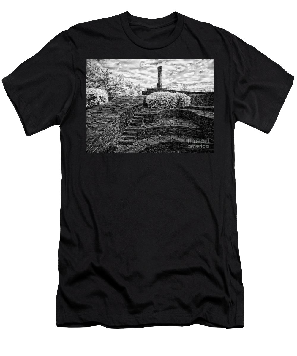 Ir Men's T-Shirt (Athletic Fit) featuring the photograph Opus 40 by Claudia Kuhn