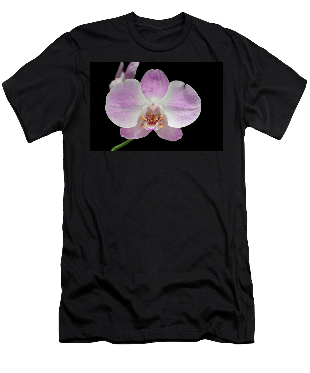 Black Men's T-Shirt (Athletic Fit) featuring the photograph Orchid by Paul Fell