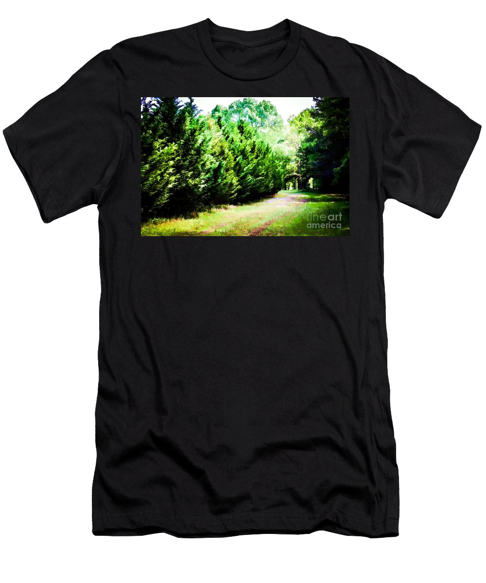 Path Men's T-Shirt (Athletic Fit) featuring the photograph Path by Carolina Mendez