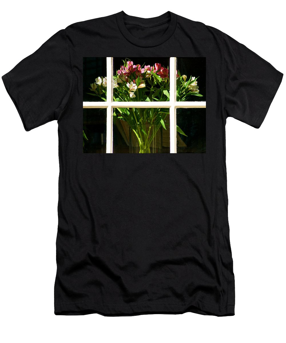 Great Bouquets Men's T-Shirt (Athletic Fit) featuring the photograph Perfect Day by Ira Shander