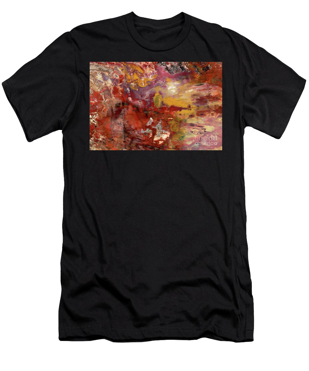 00343402 Men's T-Shirt (Athletic Fit) featuring the photograph Petrified Wood Detail by Yva Momatiuk John Eastcott