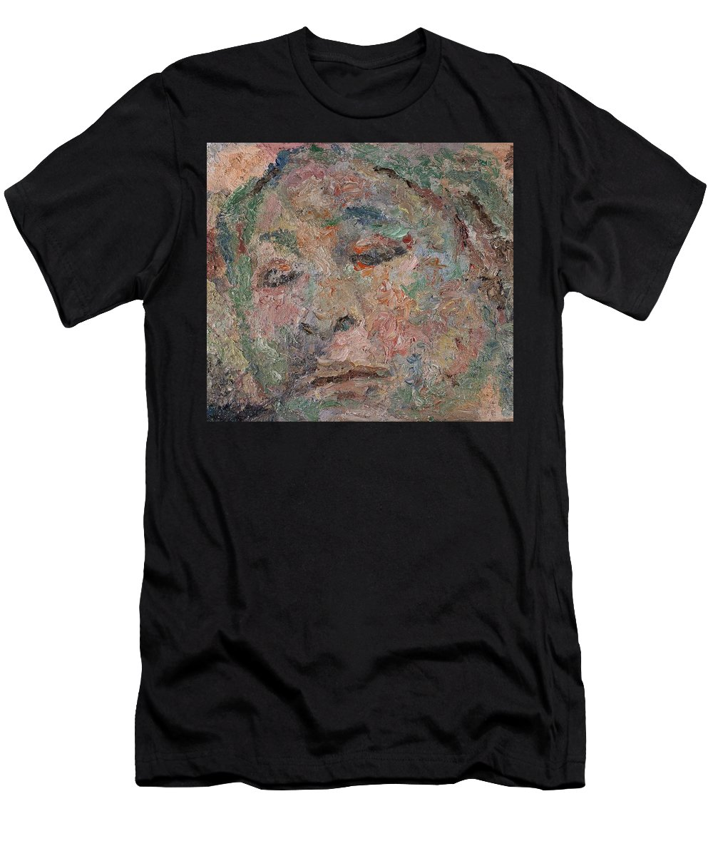 People Men's T-Shirt (Athletic Fit) featuring the painting Portrait by Robert Nizamov