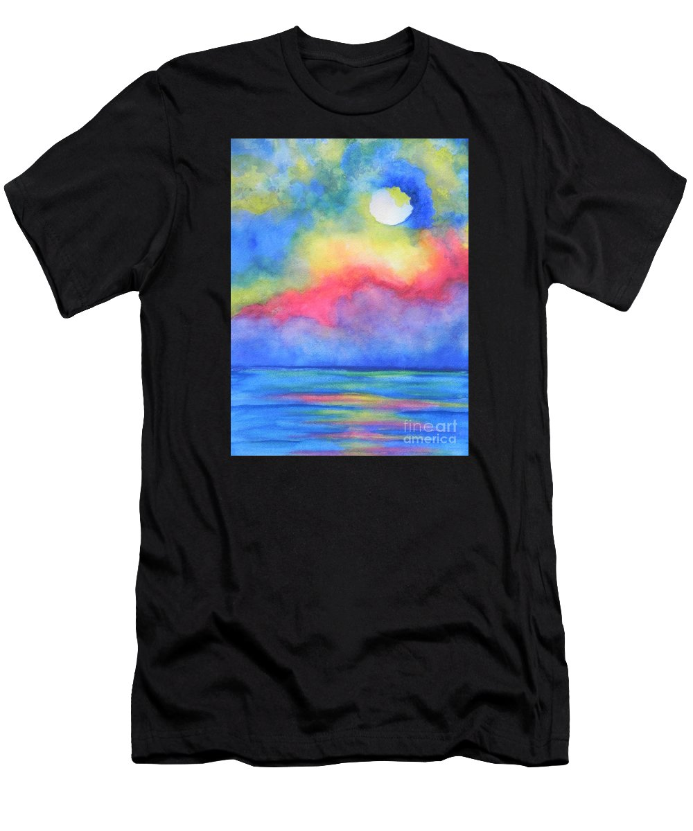 Fine Art Painting Men's T-Shirt (Athletic Fit) featuring the painting Power Of Nature by Chrisann Ellis