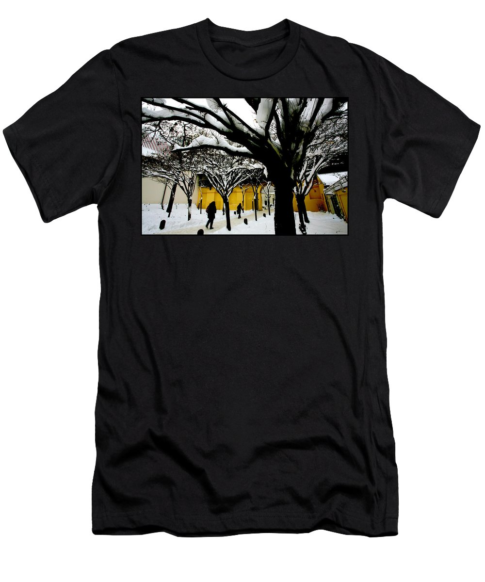Winter Men's T-Shirt (Athletic Fit) featuring the photograph Prague Winter by Paul Sutcliffe