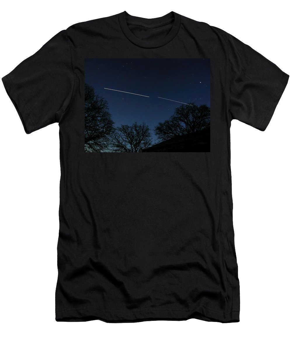 Cosmos Men's T-Shirt (Athletic Fit) featuring the photograph Racing The Stars by Shannon Story