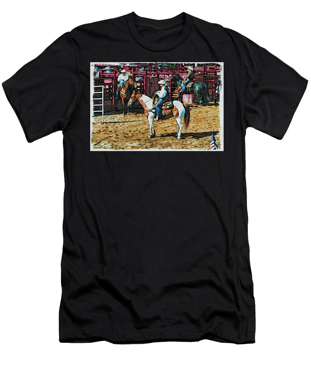 Paint Horse Men's T-Shirt (Athletic Fit) featuring the photograph Ready by Alice Gipson