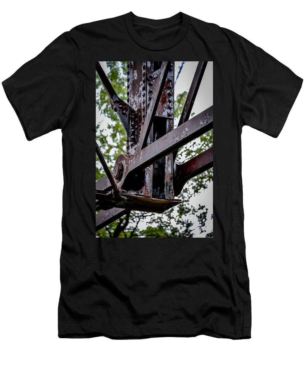 Lehigh Valley Bridge Men's T-Shirt (Athletic Fit) featuring the photograph Reclaim by Michael Brooks