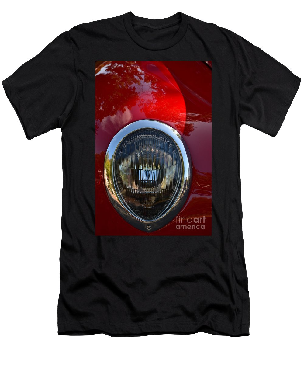 Men's T-Shirt (Athletic Fit) featuring the photograph Red Classic Ford by Dean Ferreira