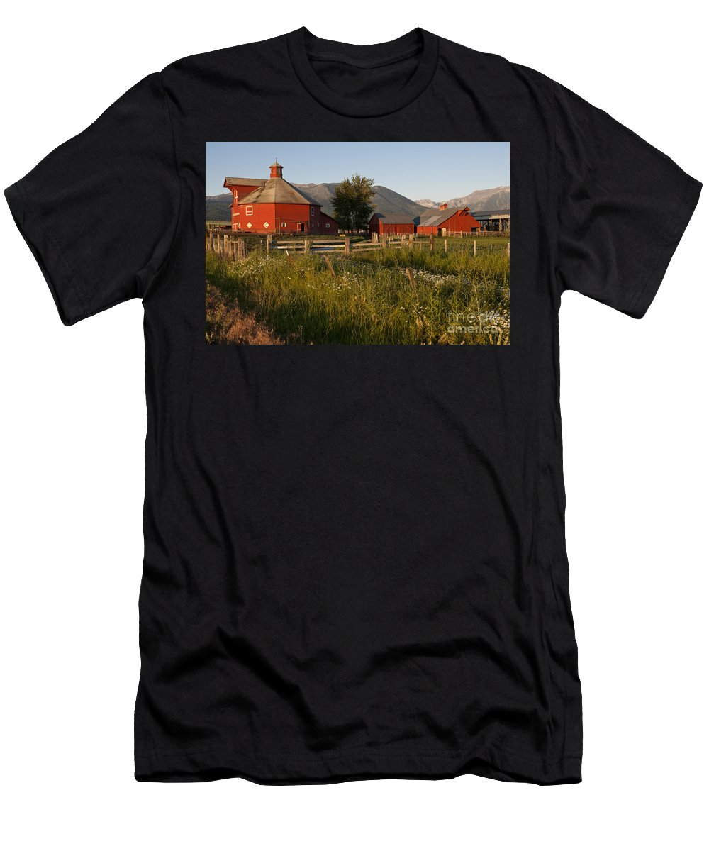 America Men's T-Shirt (Athletic Fit) featuring the photograph Red Farm by John Shaw