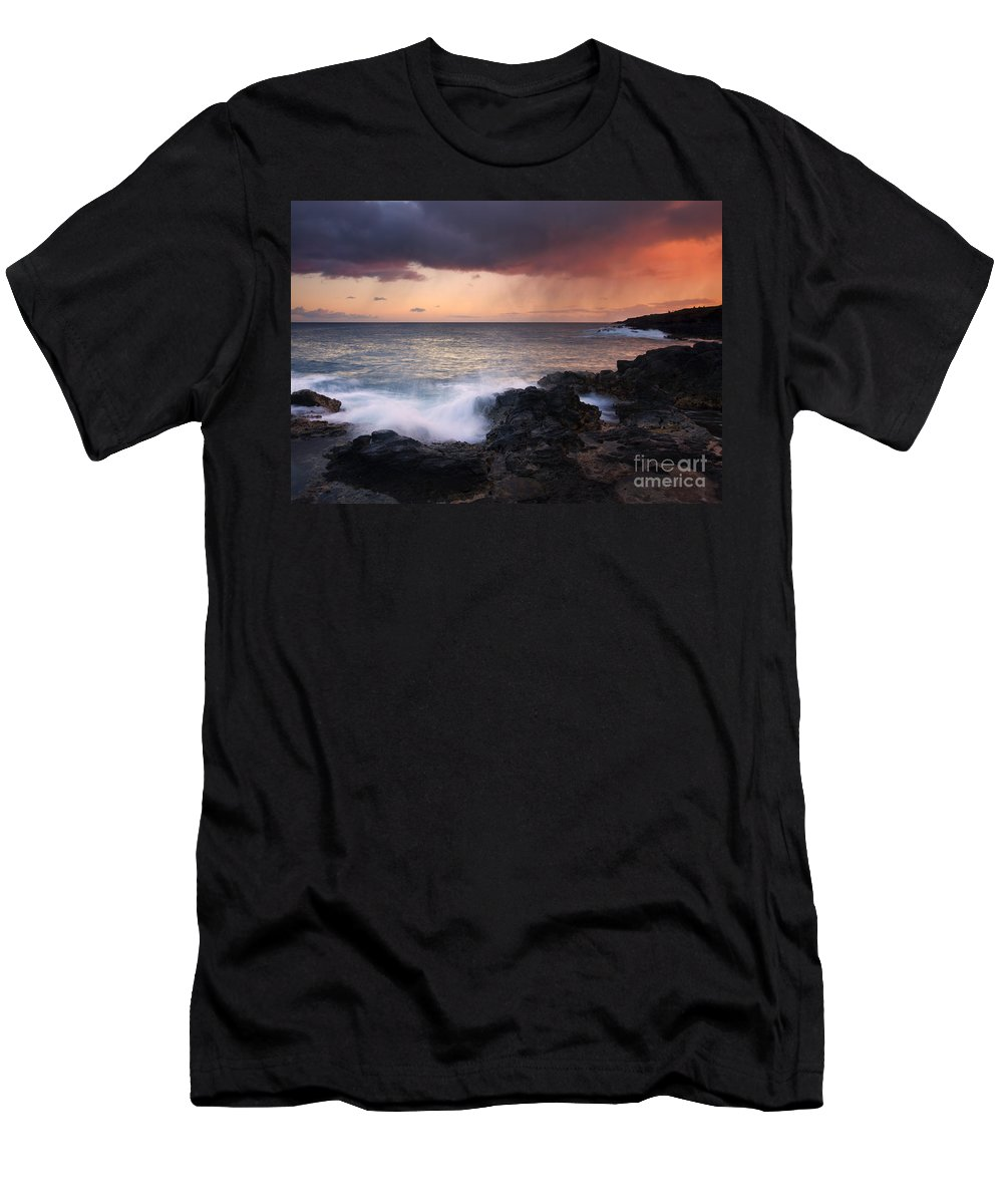 Kauai Men's T-Shirt (Athletic Fit) featuring the photograph Red Storm Rising by Mike Dawson