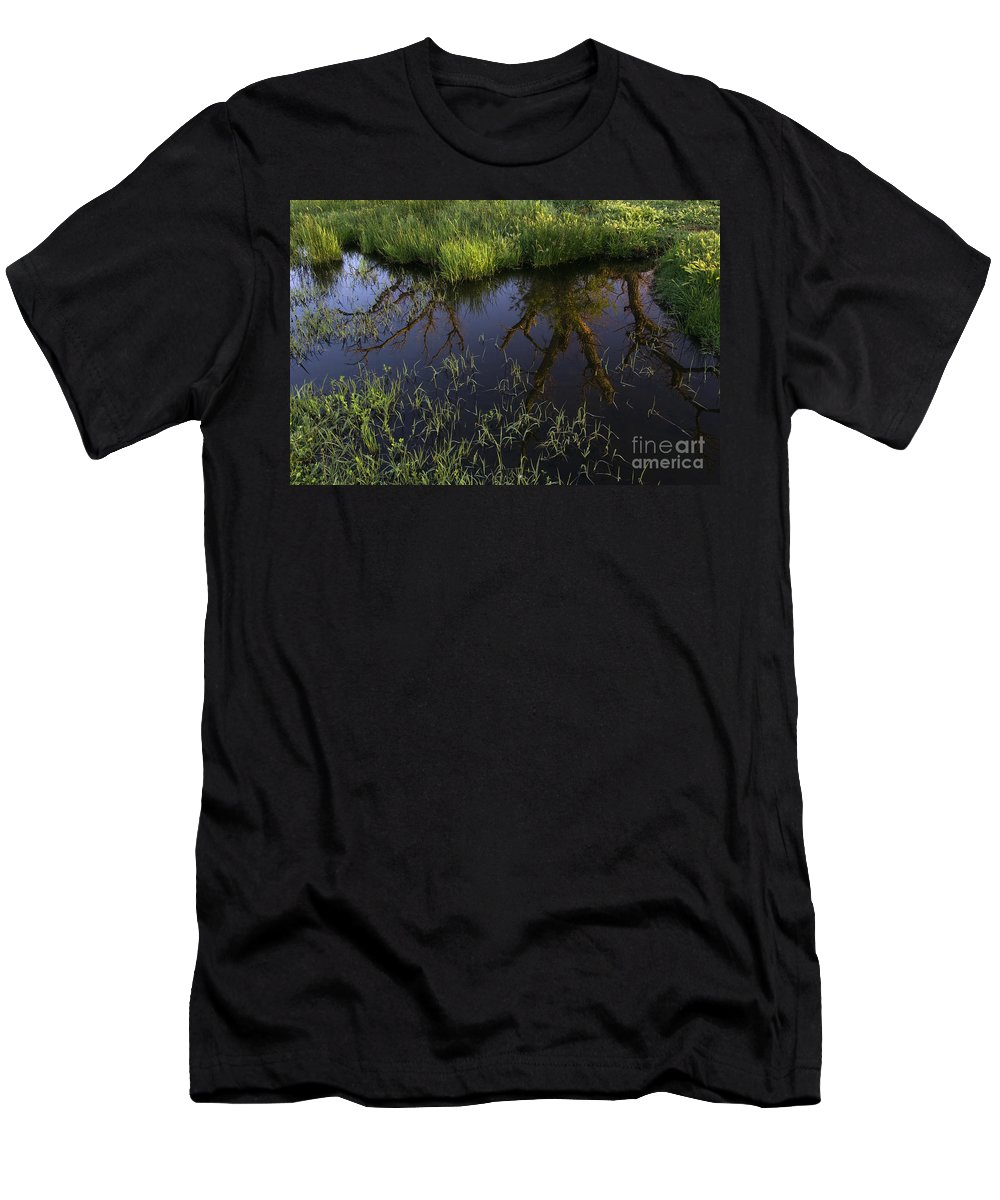 Reflection Men's T-Shirt (Athletic Fit) featuring the photograph Reflection by John Shaw