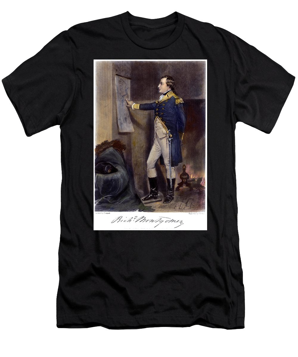 1775 Men's T-Shirt (Athletic Fit) featuring the photograph Richard Montgomery by Granger