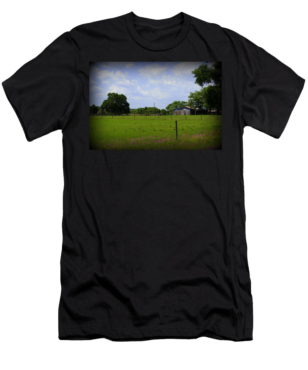 Florida Back Road Men's T-Shirt (Athletic Fit) featuring the photograph Rural Florida by Laurie Perry