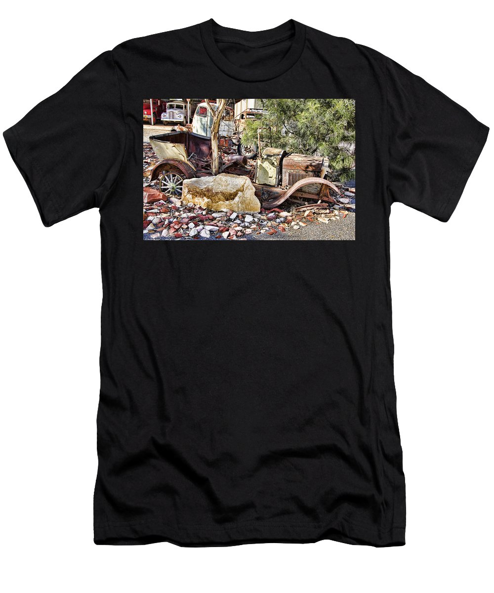 Rusted Men's T-Shirt (Athletic Fit) featuring the photograph Rustbucket by Douglas Barnard