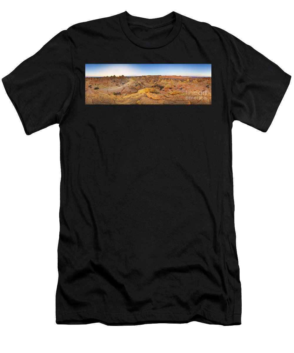00431243 Men's T-Shirt (Athletic Fit) featuring the photograph Coyote Buttes Arizona by Yva Momatiuk John Eastcott