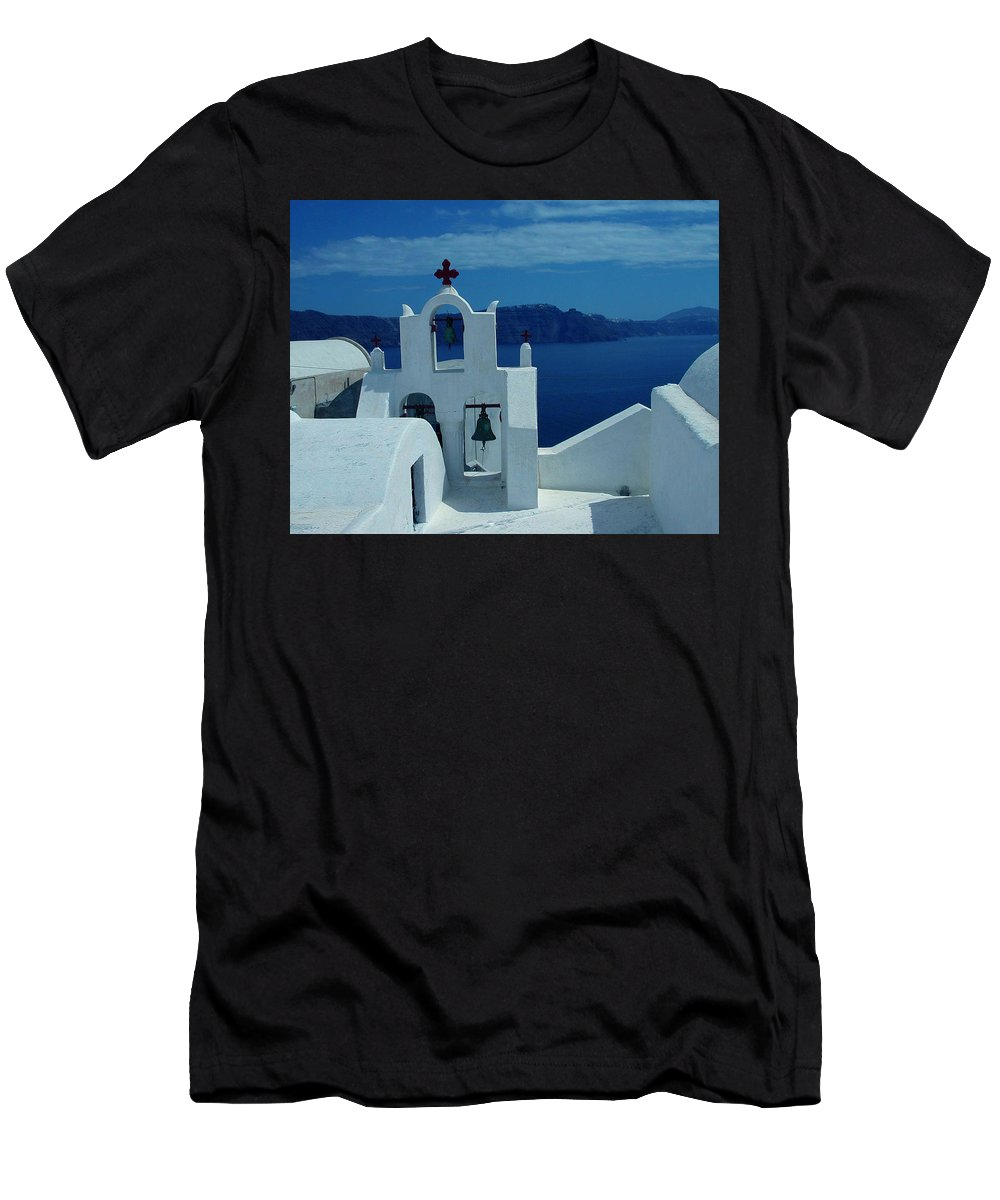 Colette Men's T-Shirt (Athletic Fit) featuring the photograph Santorini Island Greece by Colette V Hera Guggenheim