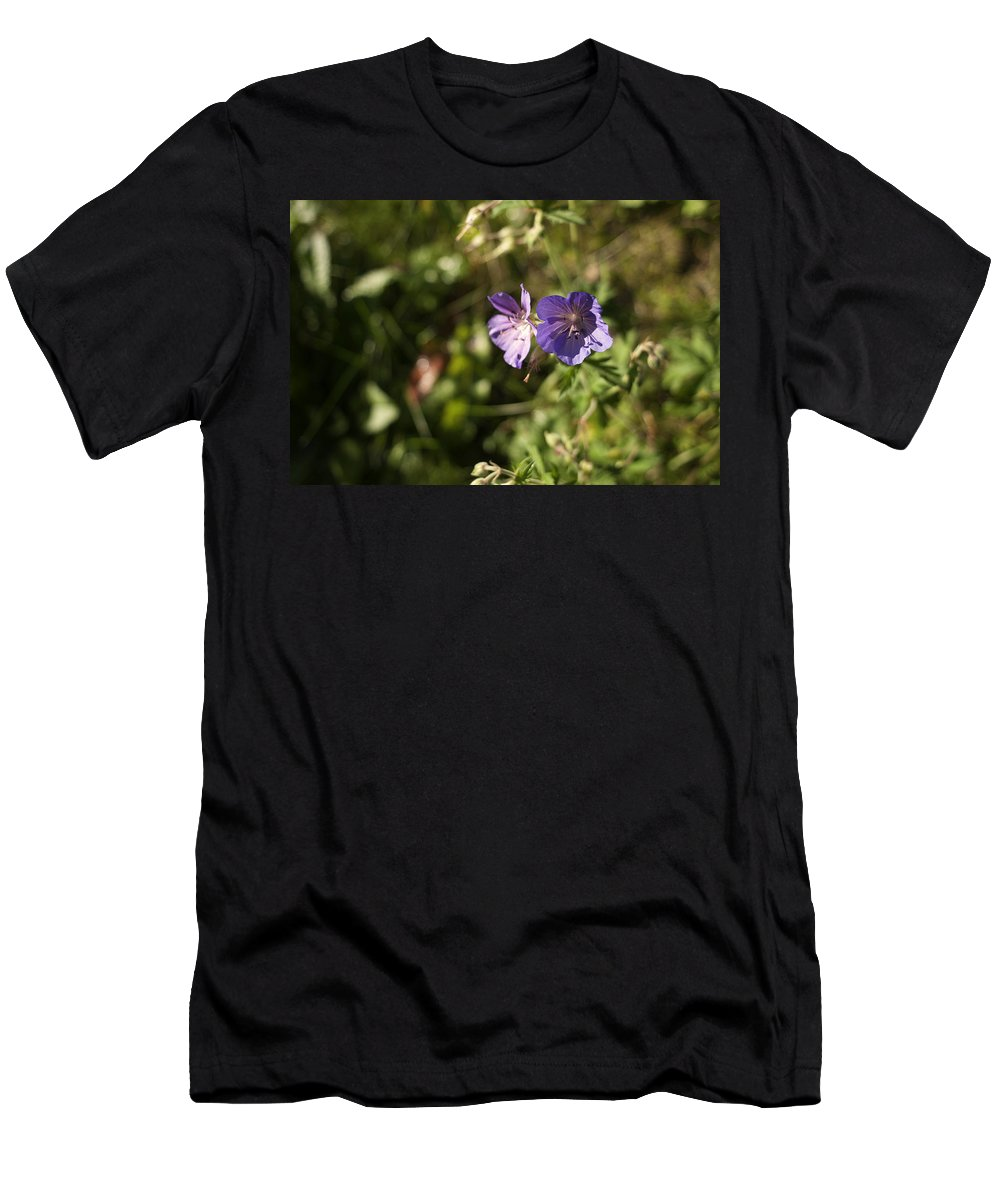 Flowers Men's T-Shirt (Athletic Fit) featuring the photograph Seasons Finish by Miguel Winterpacht