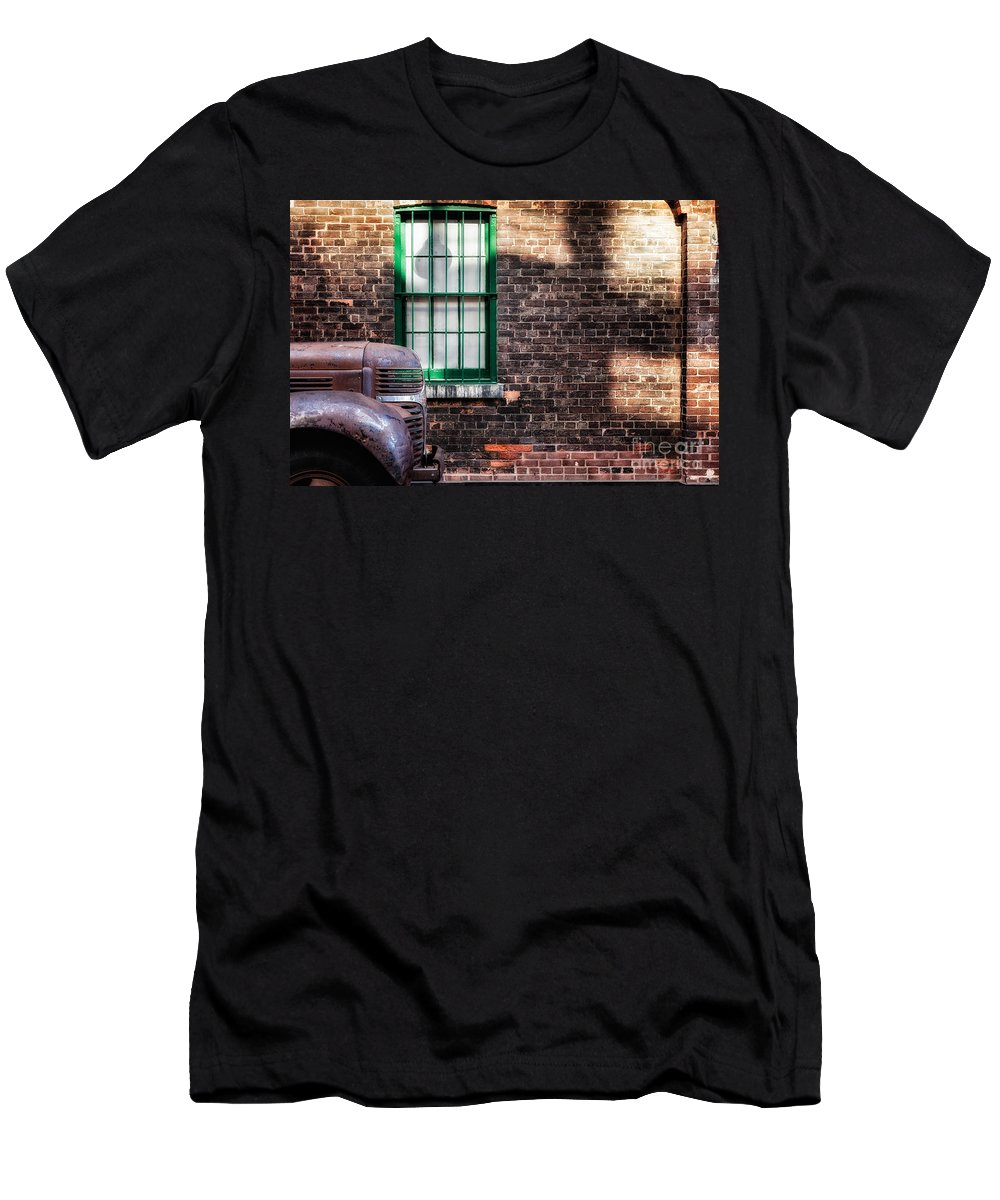 Truck Men's T-Shirt (Athletic Fit) featuring the photograph Shadow Play by Mary Smyth