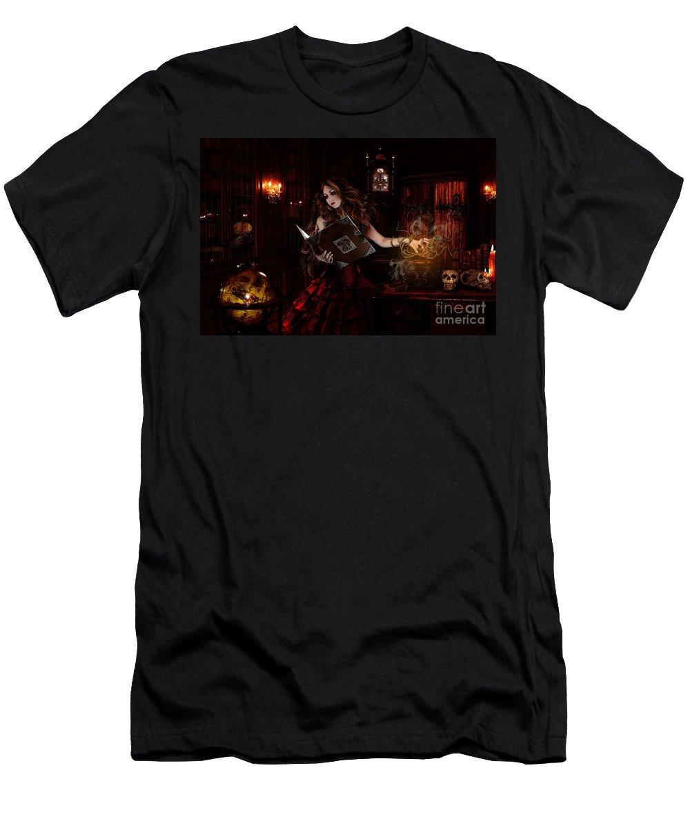 Fantasy Men's T-Shirt (Athletic Fit) featuring the digital art Spells by Babette Van den Berg
