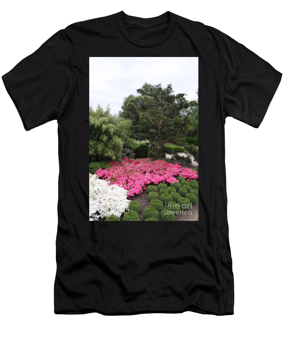 Spring Men's T-Shirt (Athletic Fit) featuring the photograph Springtime In The Park by Christiane Schulze Art And Photography