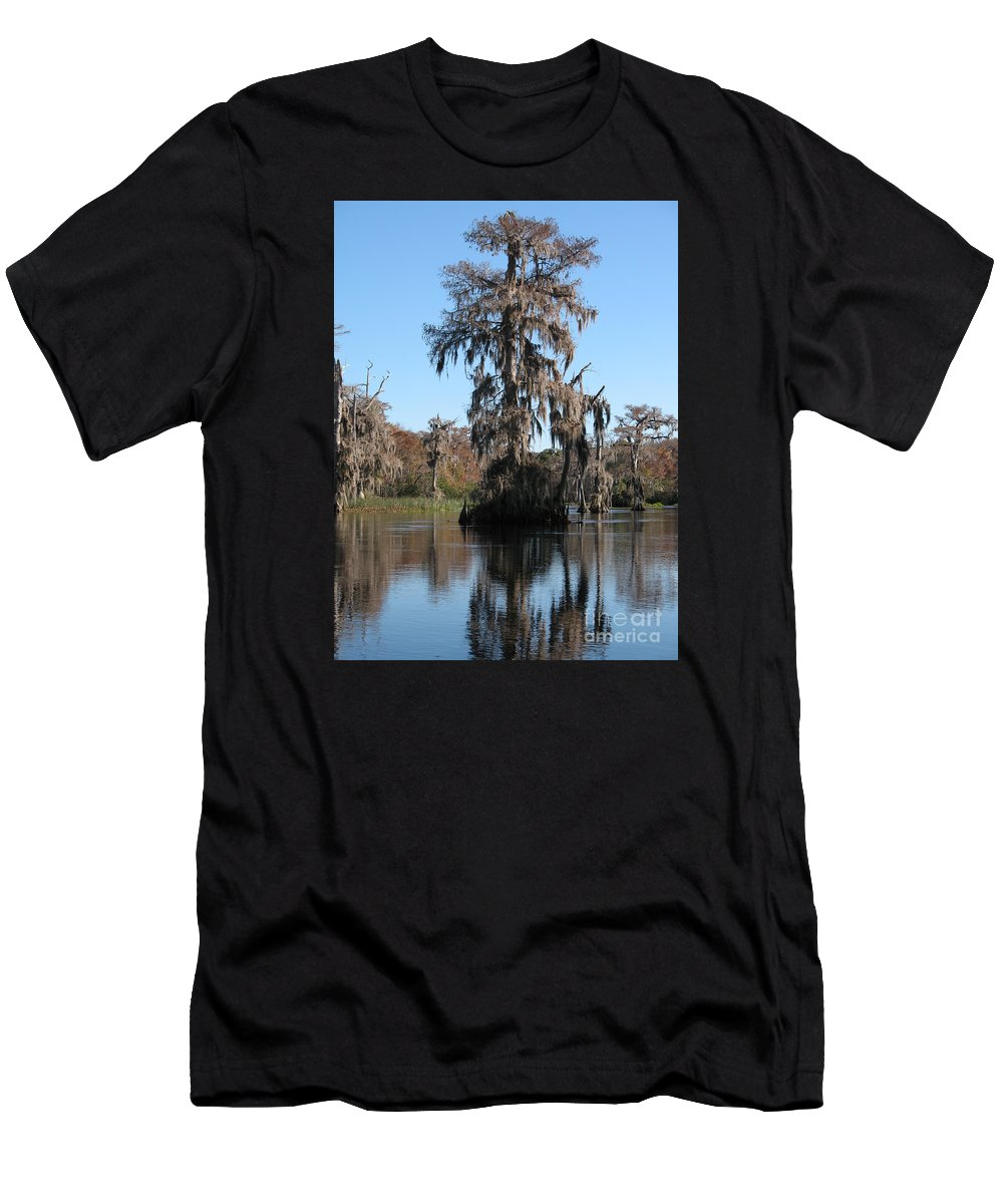 Swamp Men's T-Shirt (Athletic Fit) featuring the photograph Walkula Springs Reflection by Christiane Schulze Art And Photography