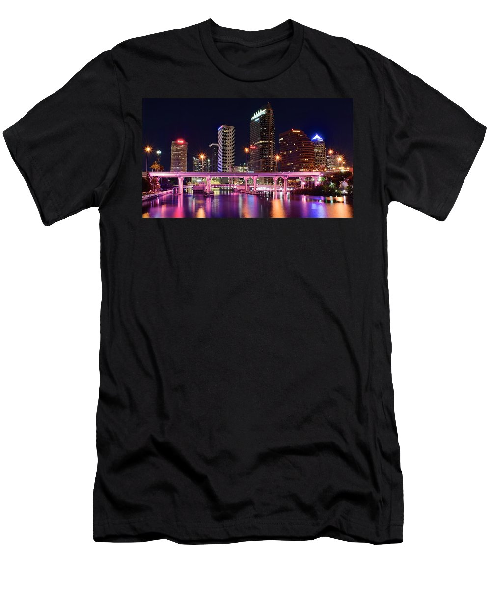 Tampa Men's T-Shirt (Athletic Fit) featuring the photograph Tampa Colors by Frozen in Time Fine Art Photography