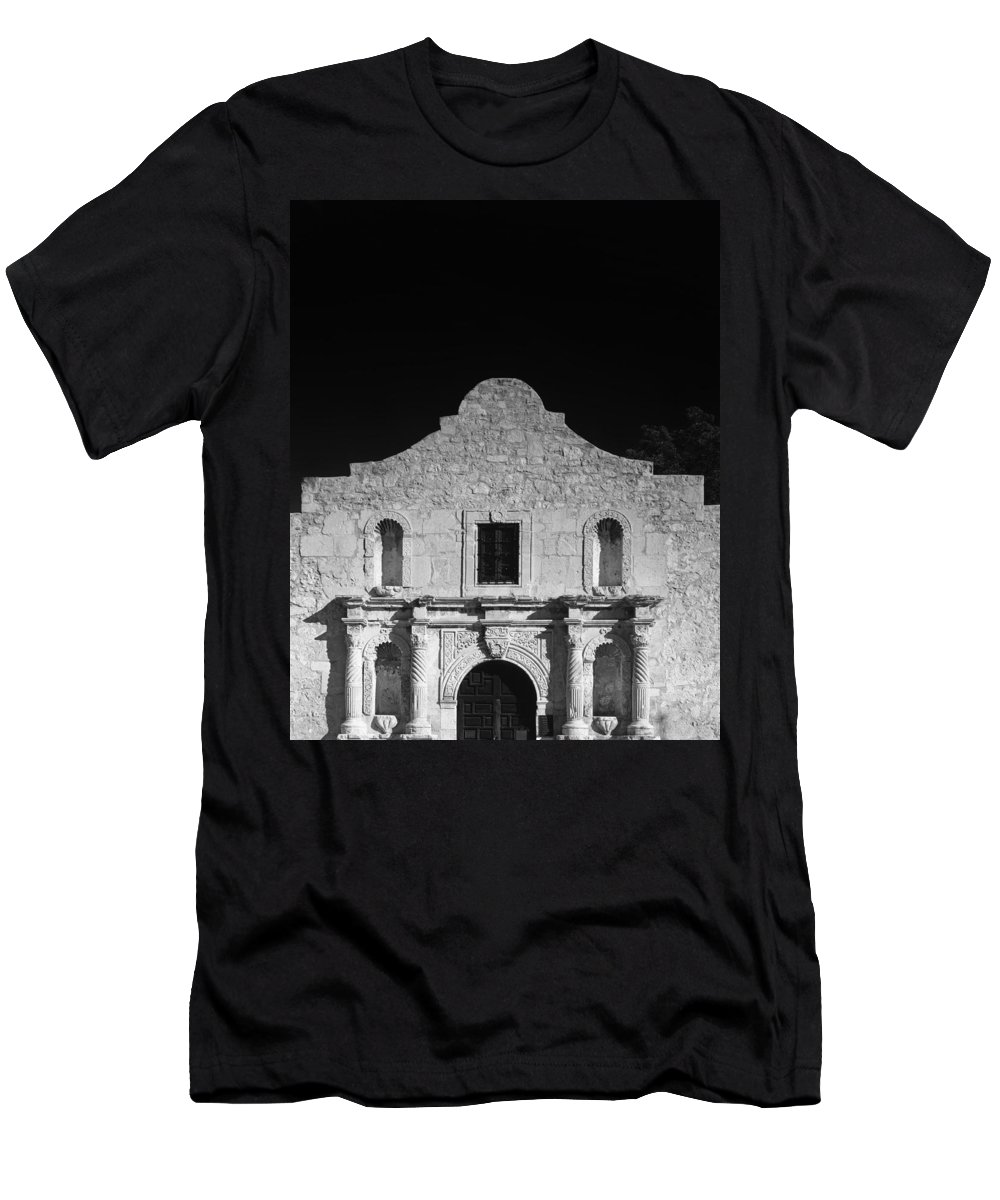 The Alamo Men's T-Shirt (Athletic Fit) featuring the photograph The Alamo by Mountain Dreams