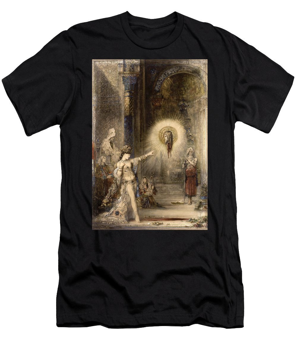Gustave Moreau Men's T-Shirt (Athletic Fit) featuring the painting The Apparition by Gustave Moreau