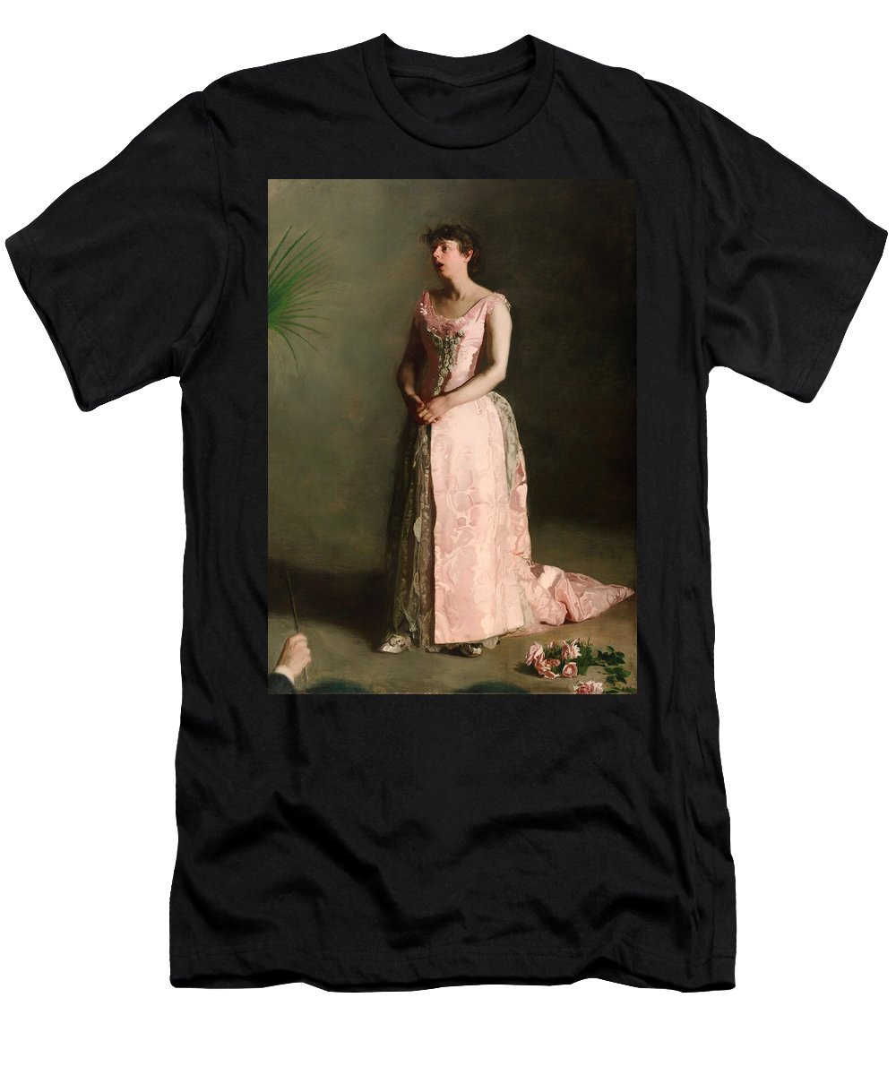 Painting Men's T-Shirt (Athletic Fit) featuring the painting The Concert Singer by Mountain Dreams