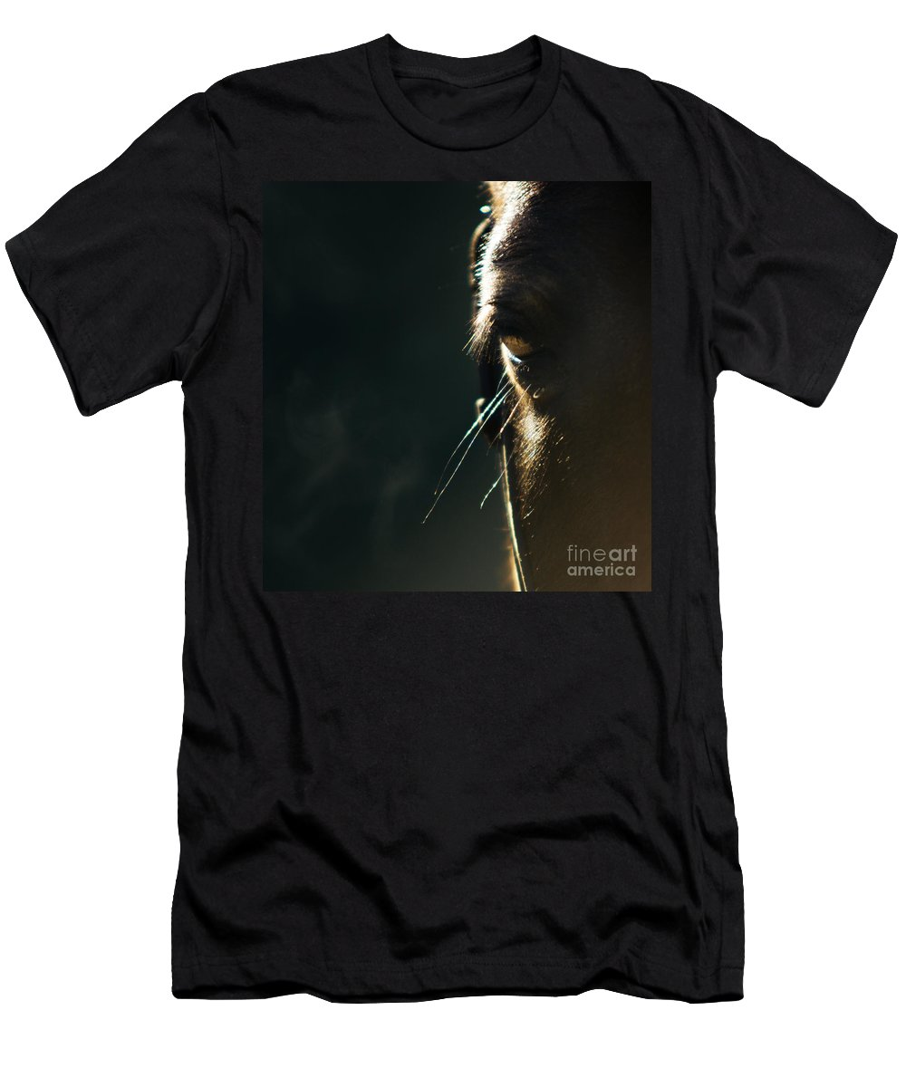 Horse Men's T-Shirt (Athletic Fit) featuring the photograph the Look by Angel Ciesniarska