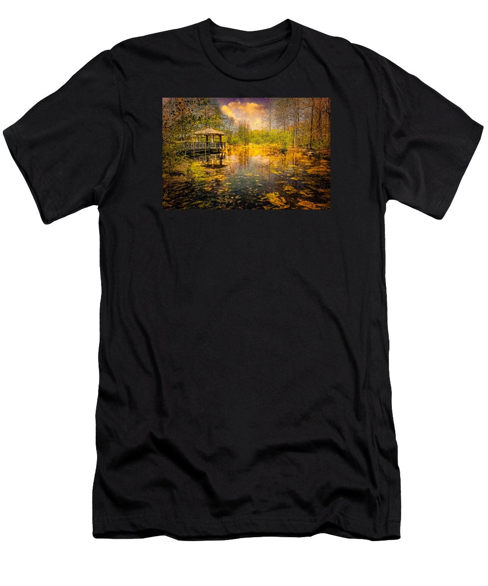 Pond Men's T-Shirt (Athletic Fit) featuring the photograph The Wetlands by Chris Lord