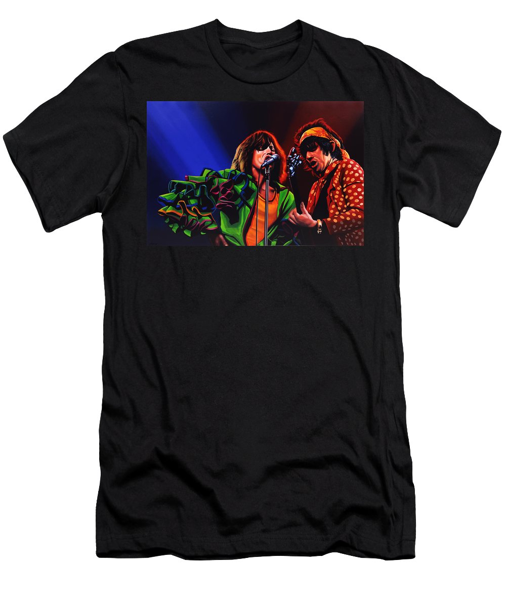 The Rolling Stones T-Shirt featuring the painting The Rolling Stones 2 by Paul Meijering