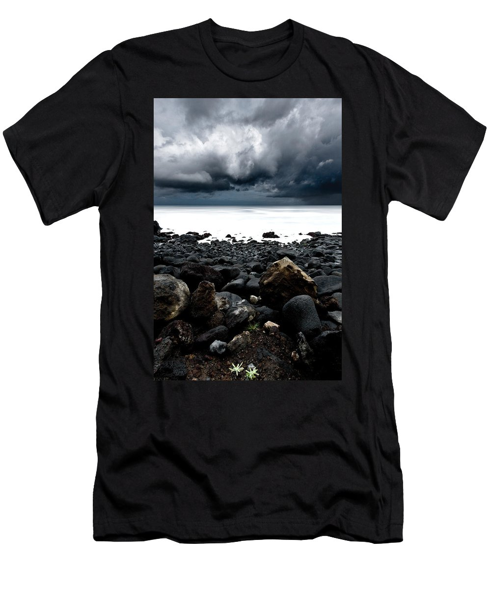 Raw Nature Men's T-Shirt (Athletic Fit) featuring the photograph The Storm by Jorge Maia