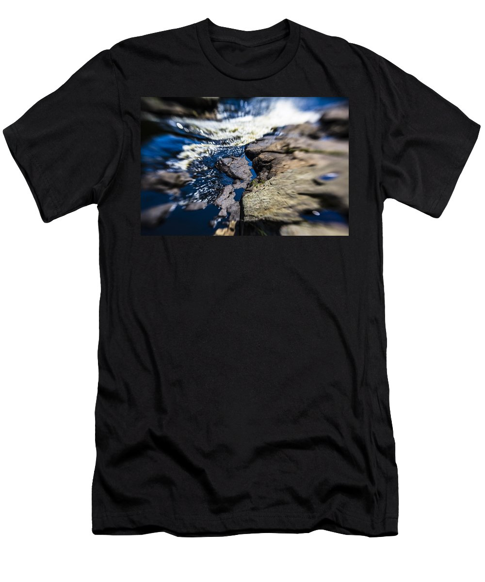 Stream Men's T-Shirt (Athletic Fit) featuring the photograph The Stream In Mountain by Alex Potemkin