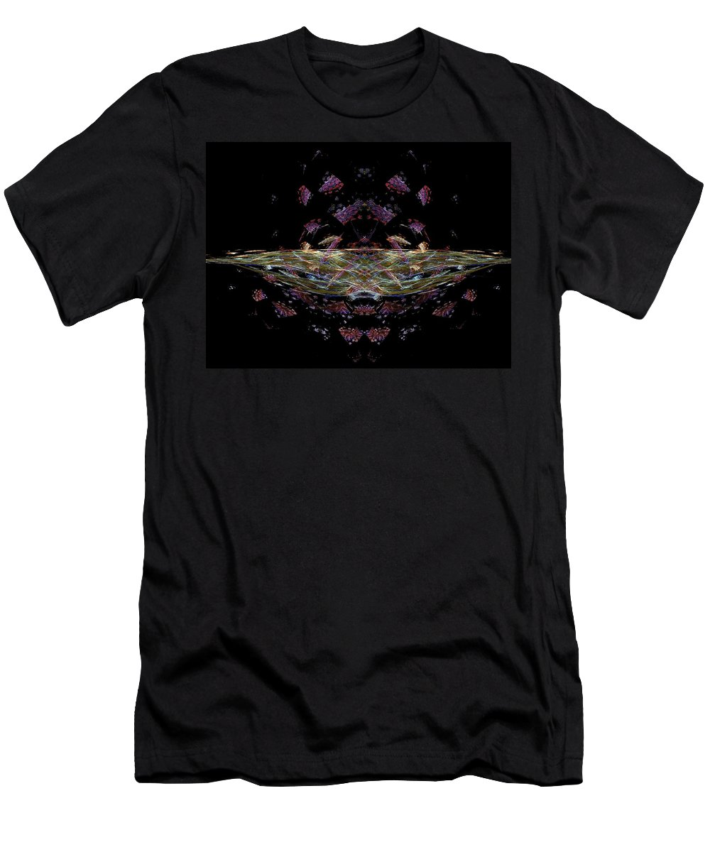 Fractal Men's T-Shirt (Athletic Fit) featuring the painting Time Warp by Bruce Nutting