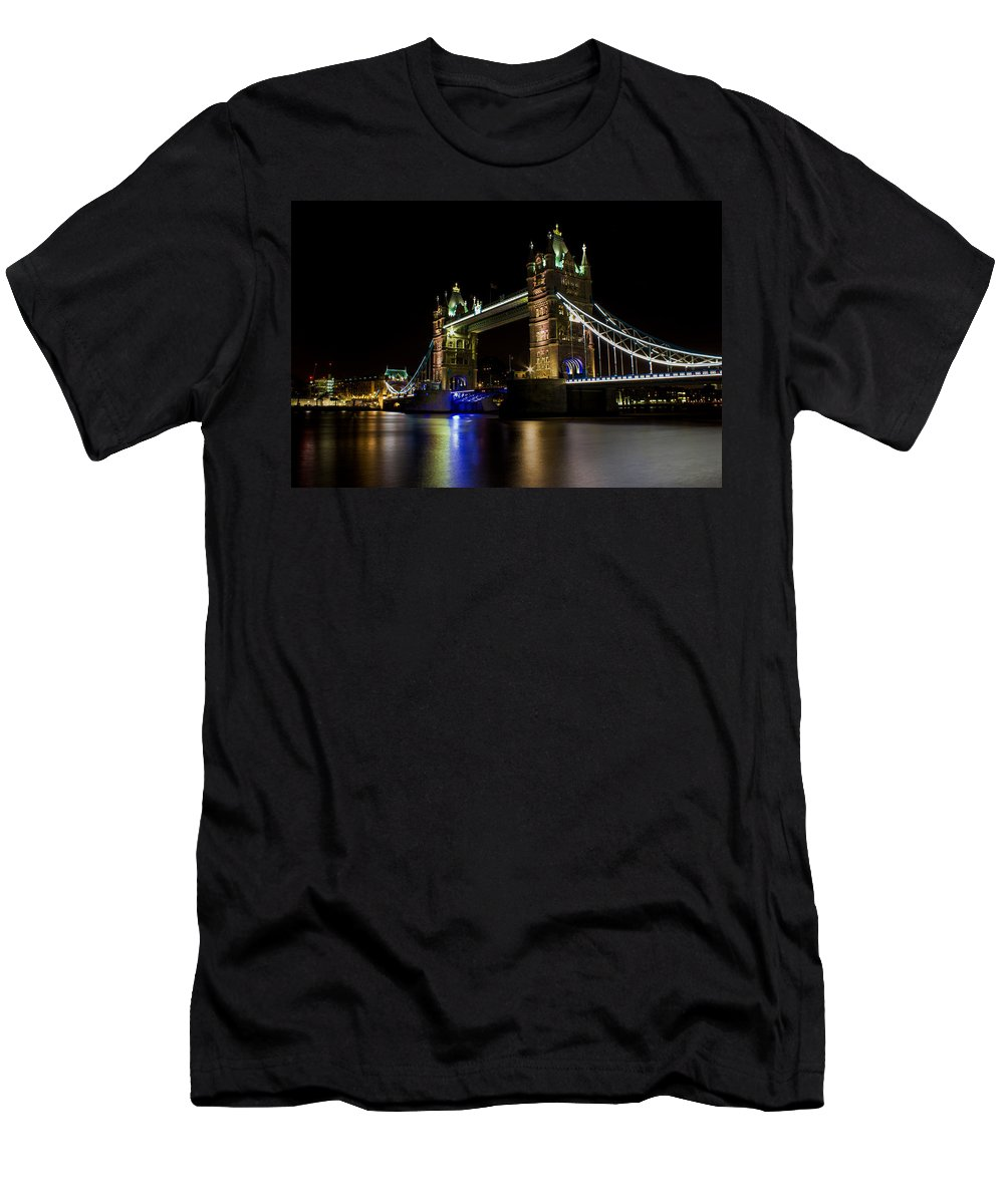 Tower Men's T-Shirt (Athletic Fit) featuring the photograph Tower Bridge by Martin Newman
