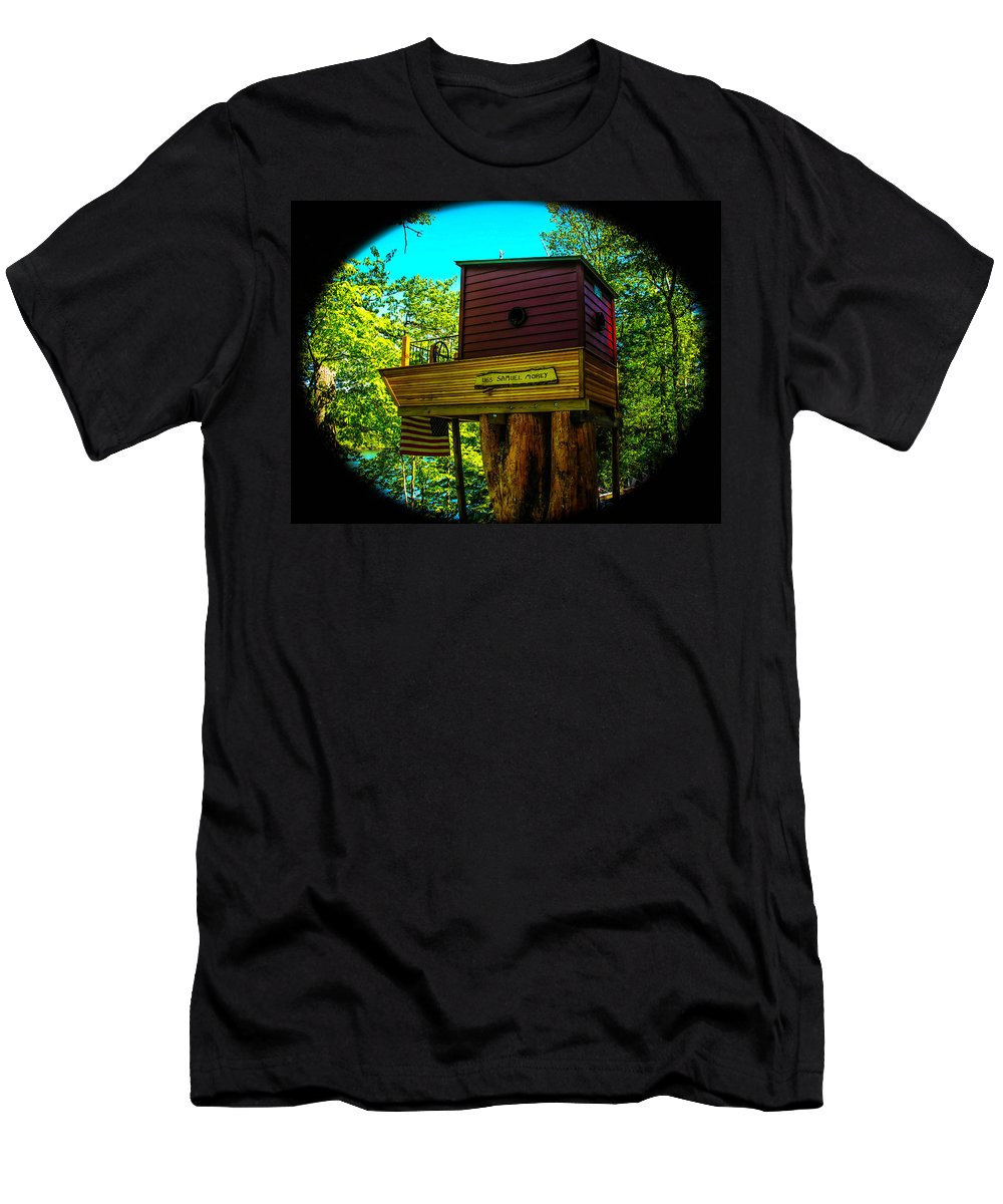 Tree Men's T-Shirt (Athletic Fit) featuring the photograph Tree House by Sherman Perry