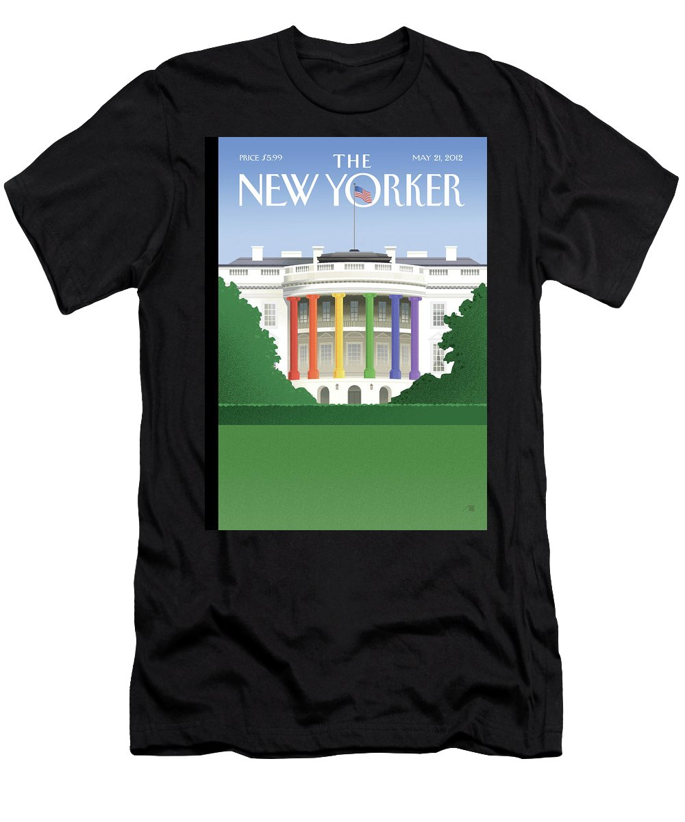 President T-Shirt featuring the painting Spectrum of Light by Bob Staake