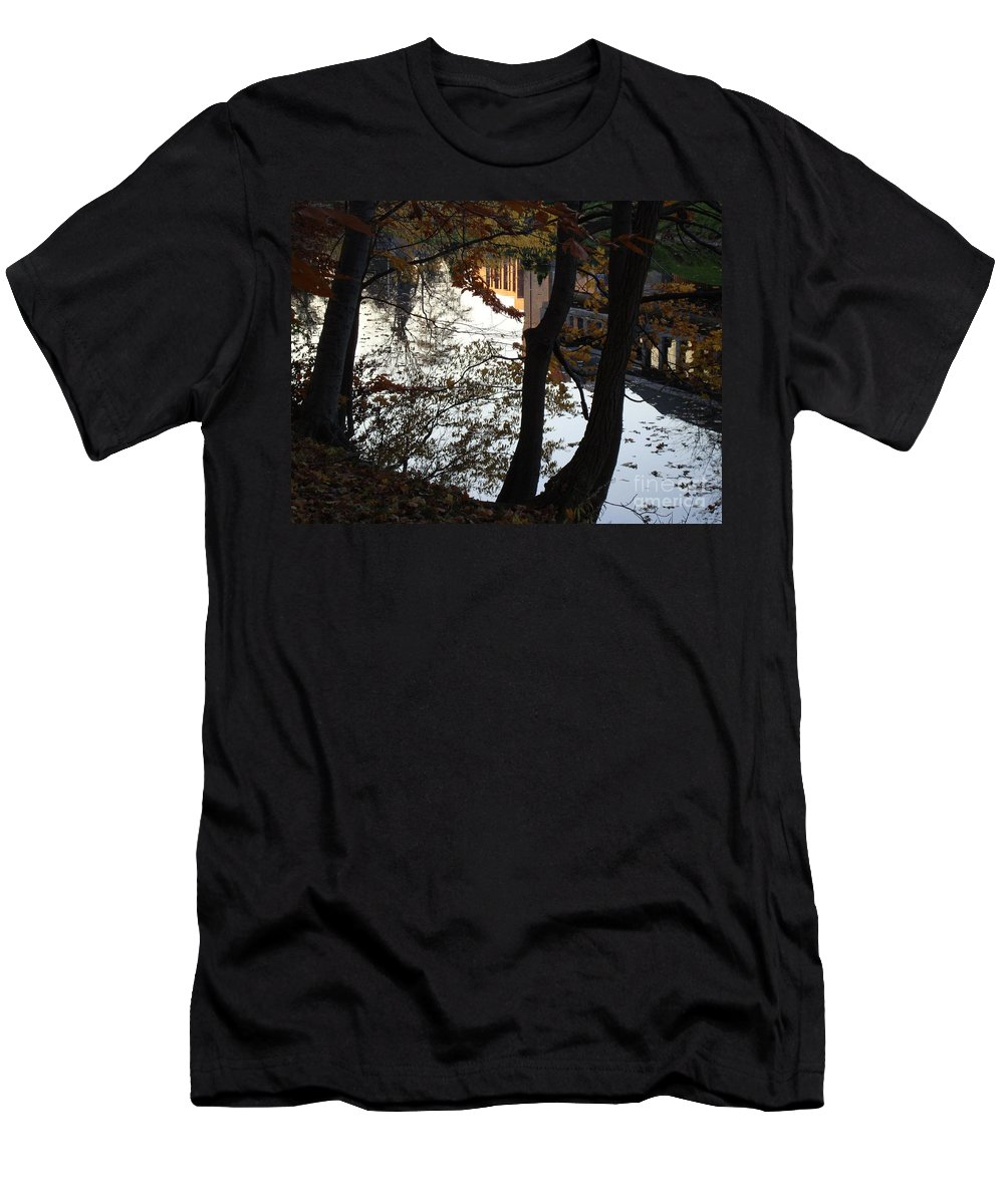 Fall Men's T-Shirt (Athletic Fit) featuring the photograph Up River by Joseph Yarbrough
