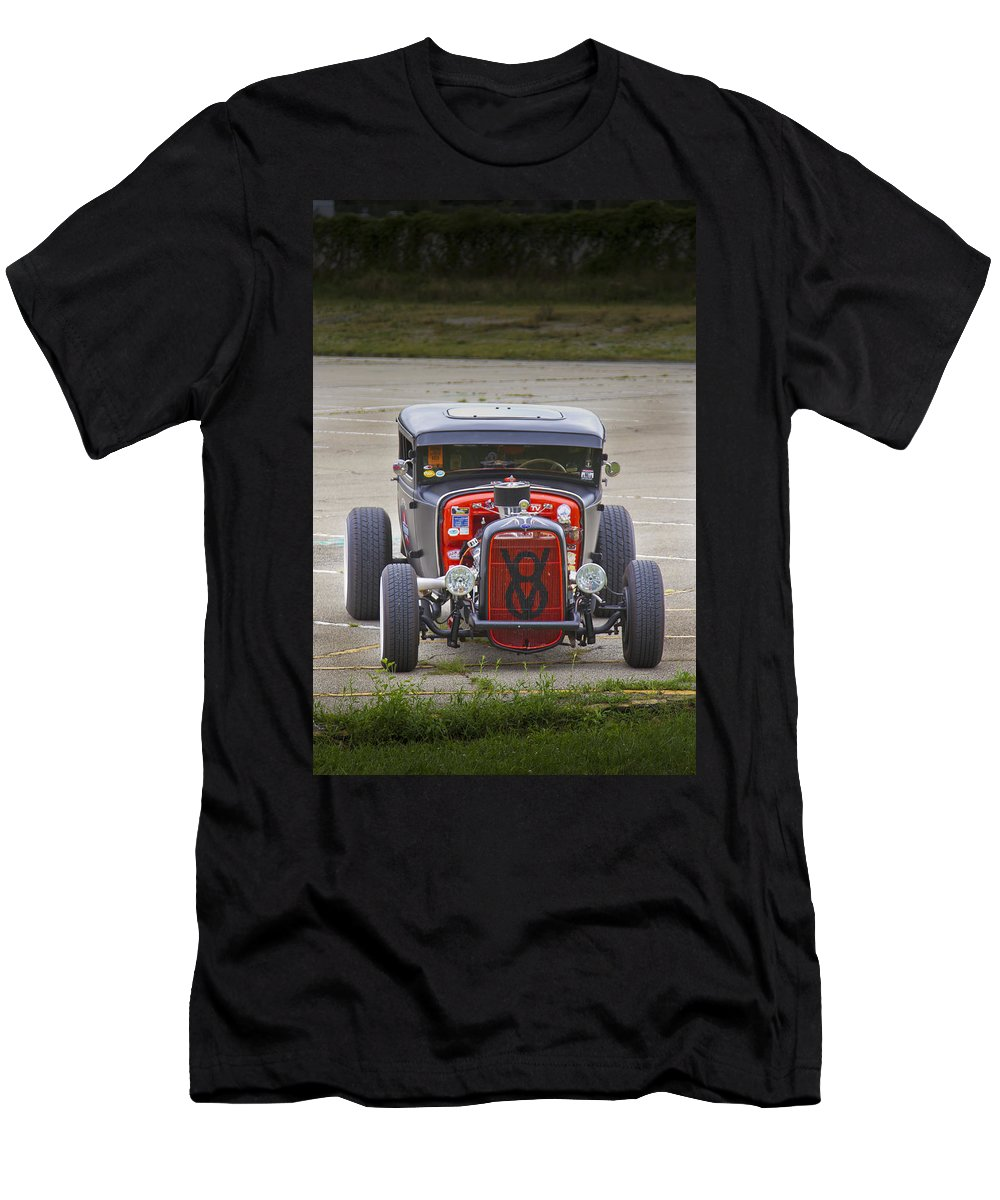 American Men's T-Shirt (Athletic Fit) featuring the photograph V8 by Jack R Perry