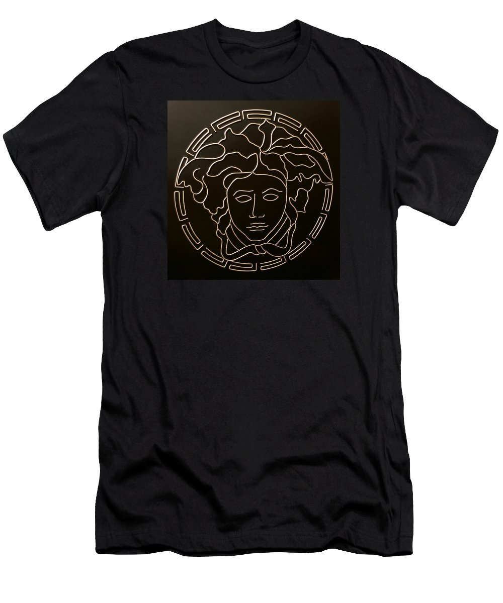 72ff19eac Versace Men's T-Shirt (Athletic Fit) featuring the mixed media Versace  Medusa Head