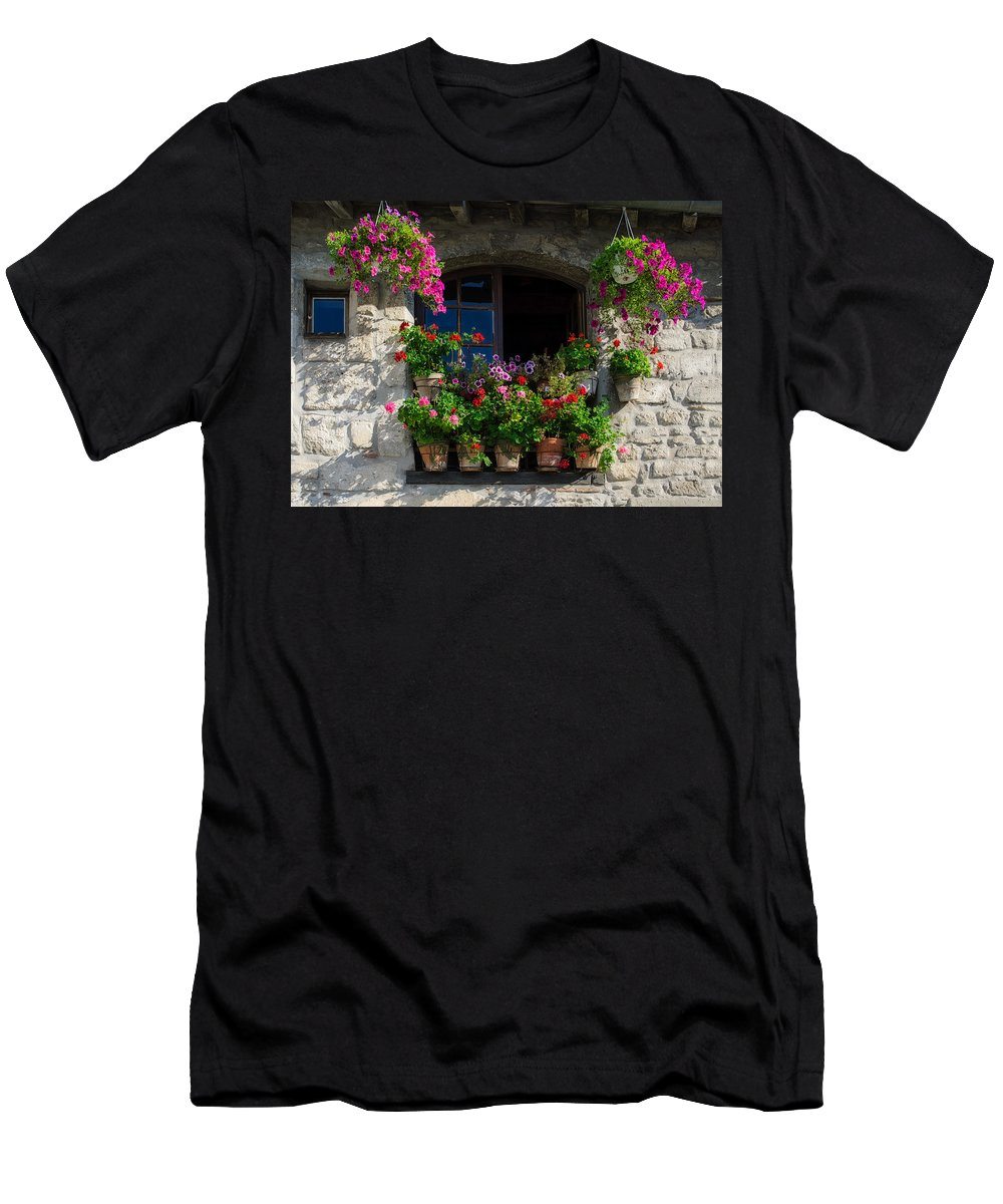 Arles Men's T-Shirt (Athletic Fit) featuring the photograph Window Dressing by Michael Blanchette