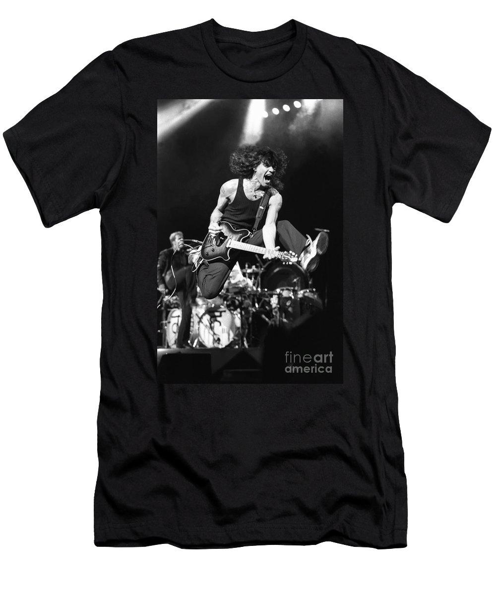 Eddie Van Halen T-Shirt featuring the photograph Van Halen - Eddie Van Halen by Concert Photos