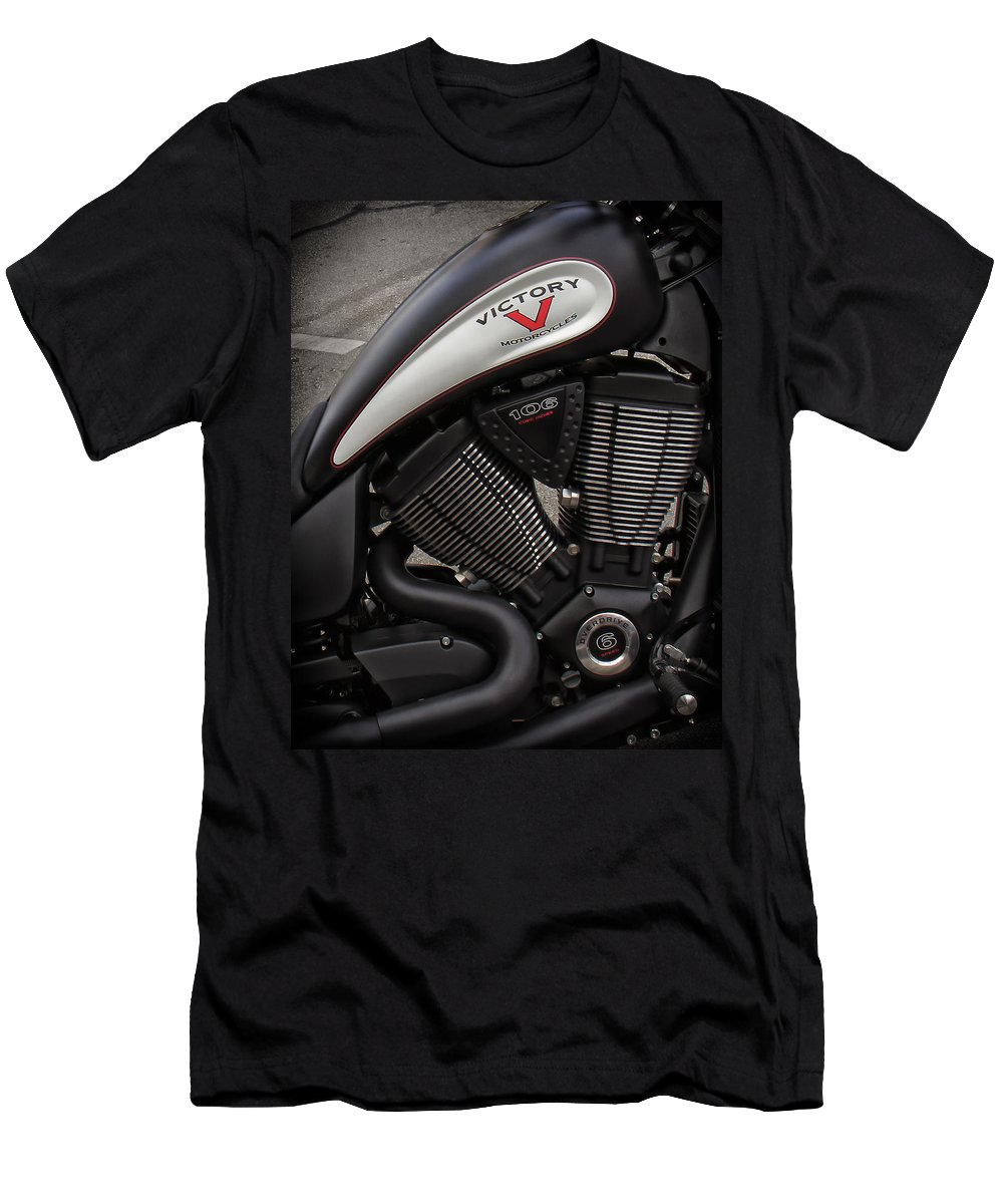 V-twin Engines Men's T-Shirt (Athletic Fit) featuring the photograph 106ci V-twin by Debby Richards