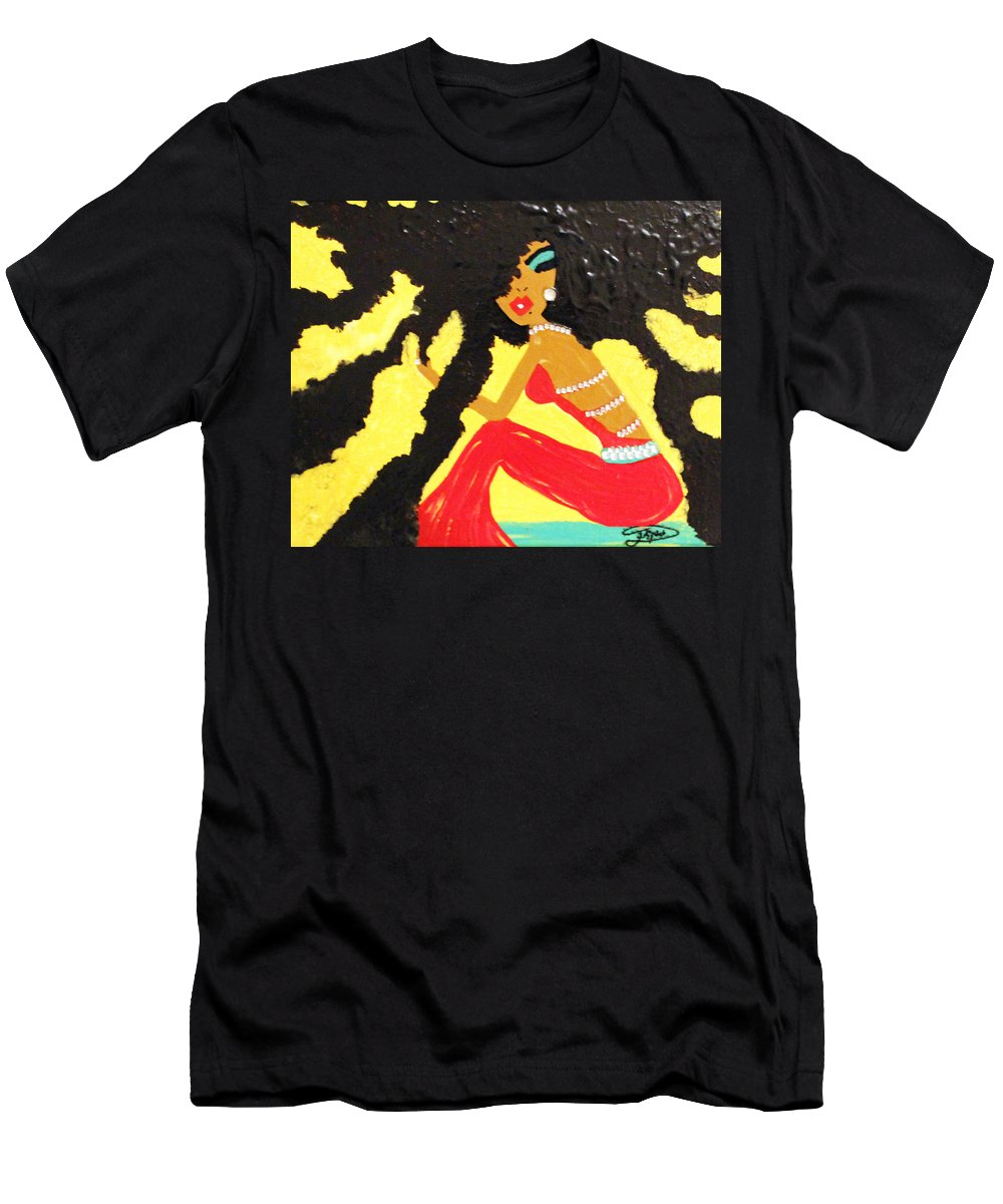 Hair Men's T-Shirt (Athletic Fit) featuring the painting Untitled by Artista Elisabet