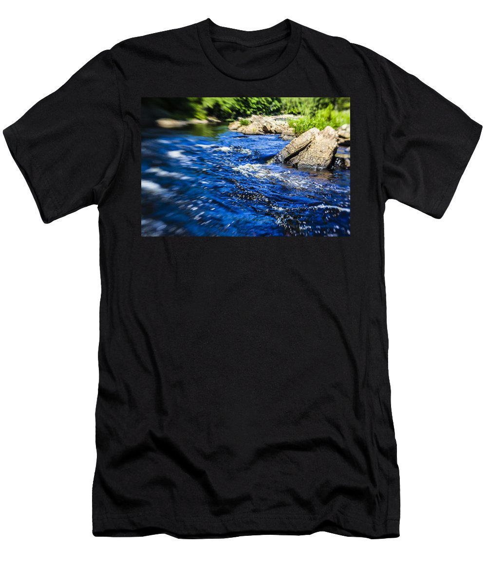Water Men's T-Shirt (Athletic Fit) featuring the photograph The Stream In Mountain by Alex Potemkin