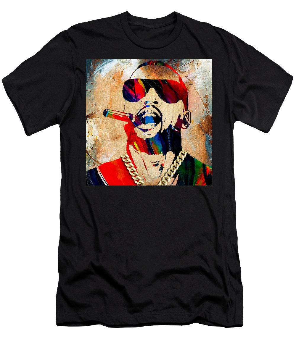 Kanye West Art Men's T-Shirt (Athletic Fit) featuring the mixed media Kanye West Collection by Marvin Blaine