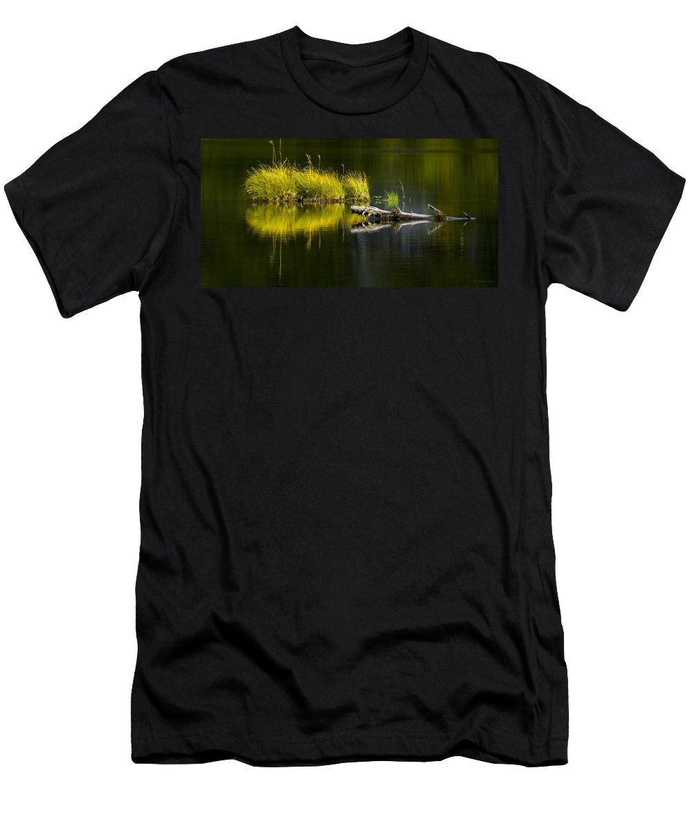 Priest Lake Men's T-Shirt (Athletic Fit) featuring the photograph 131005b-029 Forest Pond 2 by Albert Seger