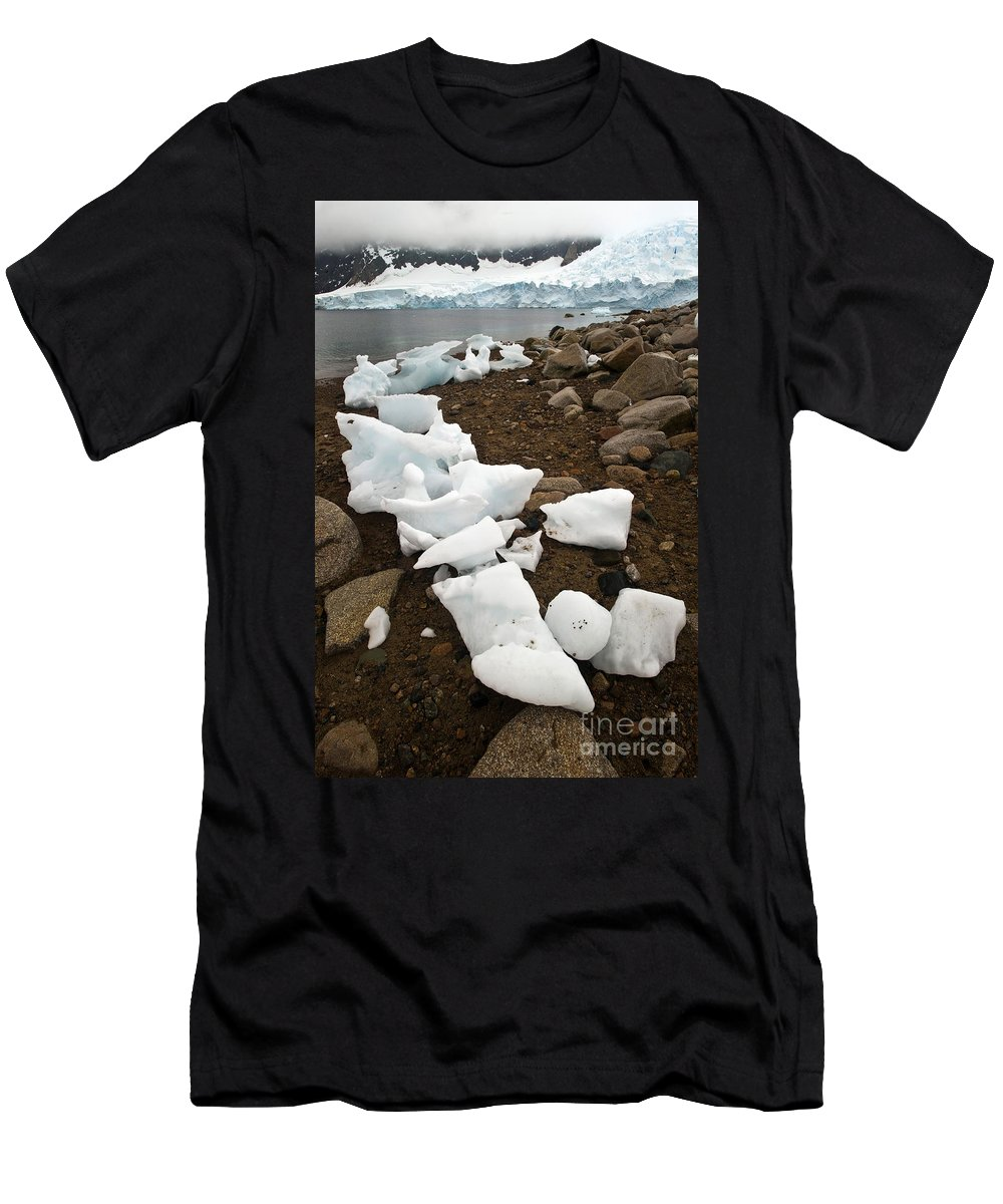 Antarctica Men's T-Shirt (Athletic Fit) featuring the photograph Antarctica by John Shaw